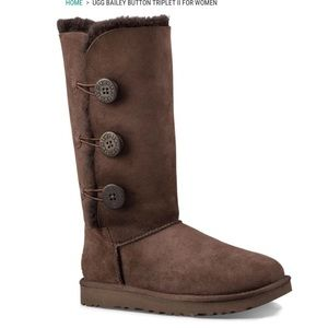 Brown Bailey Button triplet Uggs